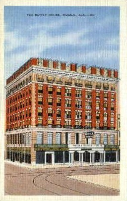 The Battle Hosue - Mobile, Alabama AL Postcard