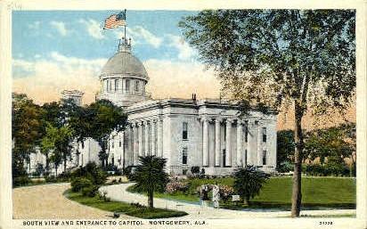 Capitol - Montgomery, Alabama AL Postcard