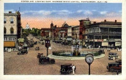 Dexter Avenue - Montgomery, Alabama AL Postcard