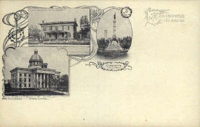 Confederate Monument - Montgomery, Alabama AL Postcard