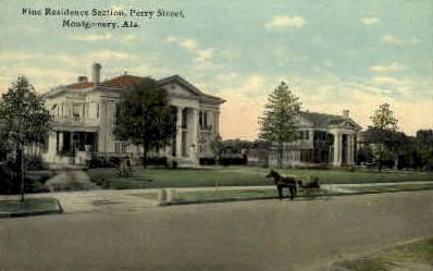 Perry Street - Montgomery, Alabama AL Postcard
