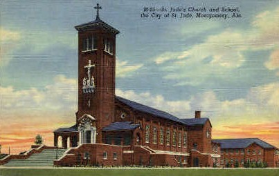 St. Jude's Church - Montgomery, Alabama AL Postcard