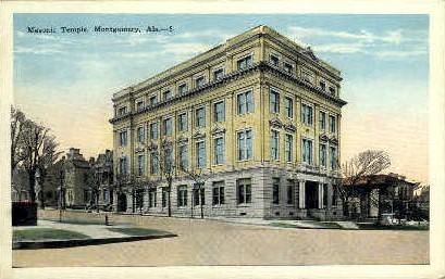 Masonic Temple - Montgomery, Alabama AL Postcard