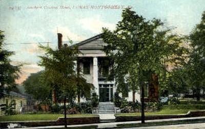 Colonial Home - Montgomery, Alabama AL Postcard