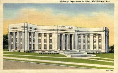 Highway Department Building - Montgomery, Alabama AL Postcard