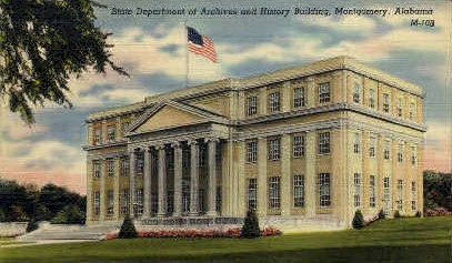 Archives and History Building - Montgomery, Alabama AL Postcard