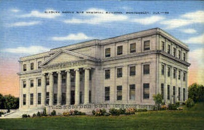 World War Memorial Building - Montgomery, Alabama AL Postcard