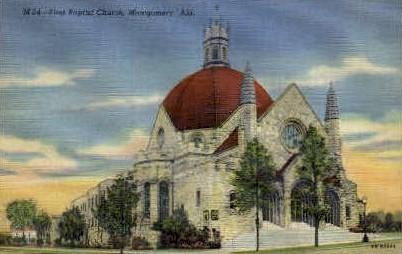 First Baptist Church - Montgomery, Alabama AL Postcard