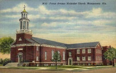 Forest Avenue Methodist Church - Montgomery, Alabama AL Postcard