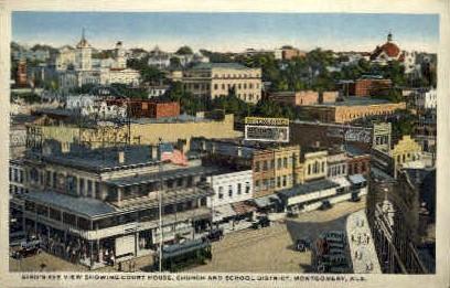 Church & School District - Montgomery, Alabama AL Postcard