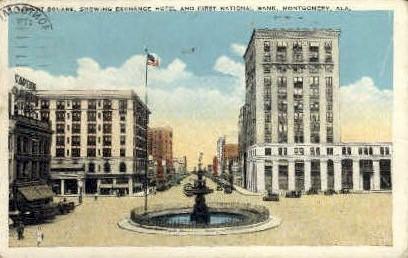 Exchange Hotel - Montgomery, Alabama AL Postcard