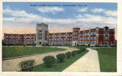 Sidney Lanier High School - Montgomery, Alabama AL Postcard