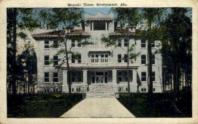 Masonic Home - Montgomery, Alabama AL Postcard