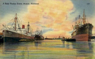 Harbor - Mobile, Alabama AL Postcard