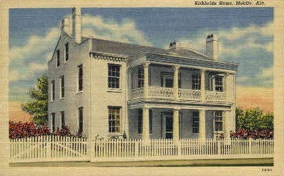 Kirkbride Home - Mobile, Alabama AL Postcard