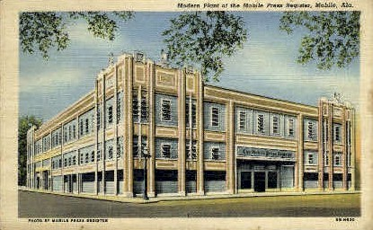 Mobile Press Register - Alabama AL Postcard