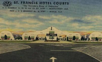 St. Francis Hotel - Montgomery, Alabama AL Postcard
