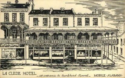 La Clede Hotel - Mobile, Alabama AL Postcard