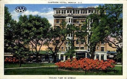 Cawthon Hotel - Mobile, Alabama AL Postcard