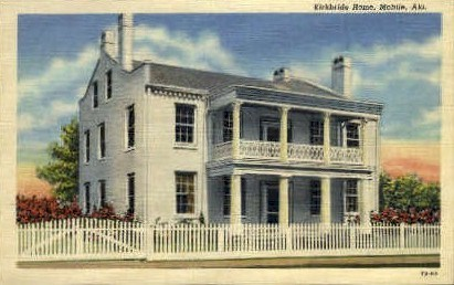 Kirkbride Home - Mobile, Alabama AL Postcard