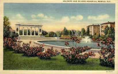 Soldiers and Sailors Memorial - Mobile, Alabama AL Postcard