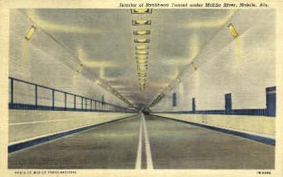 Bankhead Tunnel - Mobile, Alabama AL Postcard