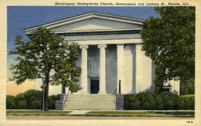 Government Presbyterian Church - Mobile, Alabama AL Postcard