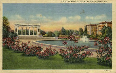 Soldiers and Sailors Memorial - Mobile, Alabama AL Postcard