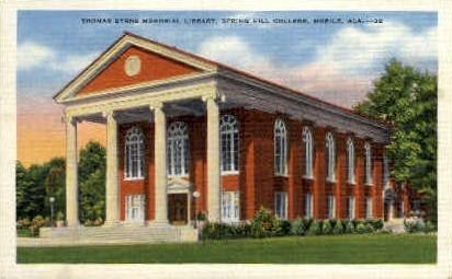 Spring Hill College - Mobile, Alabama AL Postcard