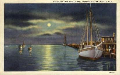 Arlington Park, Mobile Bay - Alabama AL Postcard