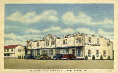 Malbis Motel - Mobile, Alabama AL Postcard
