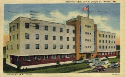 Seaman's Club - Mobile, Alabama AL Postcard