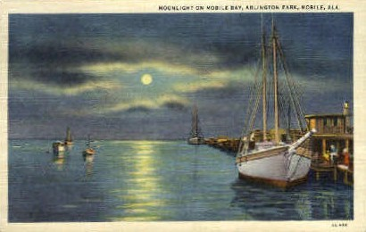 Arlington Park, Mobile Bay - Alabama AL Postcard