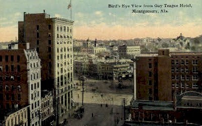 Gay-Teague Hotel - Montgomery, Alabama AL Postcard