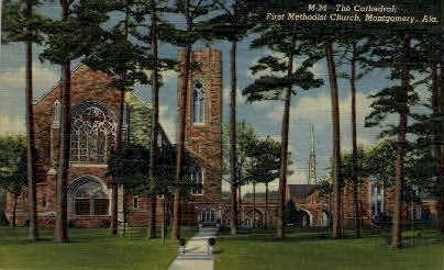 First Methodist Church - Montgomery, Alabama AL Postcard