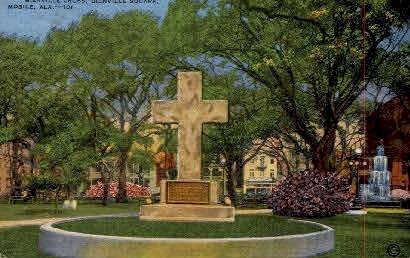 Bienville Square - Mobile, Alabama AL Postcard