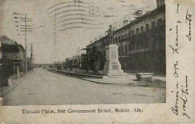 Duncan Place - Mobile, Alabama AL Postcard