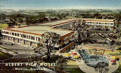 Albert Pick Motel - Mobile, Alabama AL Postcard
