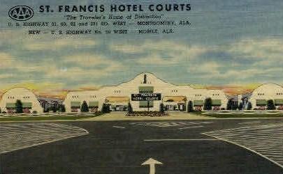 St. Francis Hotel - Mobile, Alabama AL Postcard