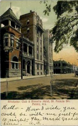 Bienville Hotel - Mobile, Alabama AL Postcard