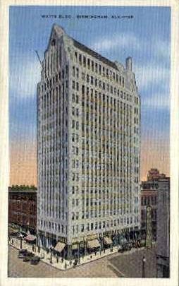 Watts Building - Birmingham, Alabama AL Postcard