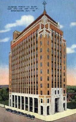Alabama Power Company building - Birmingham Postcard