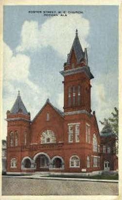 Foster Street M. E. Church - Dothan, Alabama AL Postcard