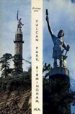 The Vulcan - Birmingham, Alabama AL Postcard