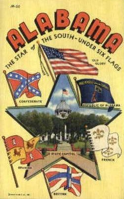 Flags - Misc, Alabama AL Postcard