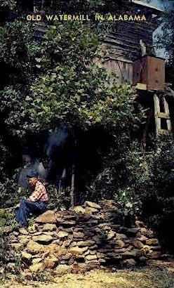 Old Waterfall - Frankling County, Alabama AL Postcard