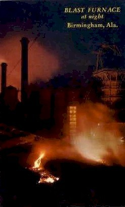 Blast Furnace - Birmingham, Alabama AL Postcard