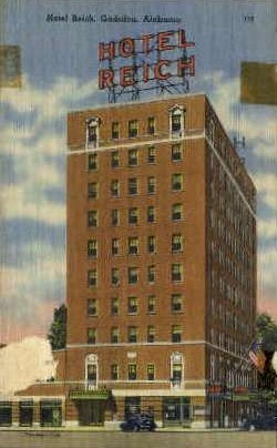 Hotel Reich - Gadsden, Alabama AL Postcard