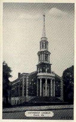 Methodist Church - Ozark, Alabama AL Postcard