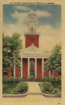 Lee County Court House - Opelika, Alabama AL Postcard